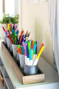 Keep the Homework Supplies Within Easy Reach